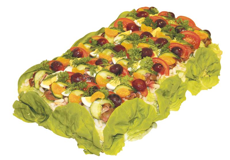Smörgåstårta för 20 personer.