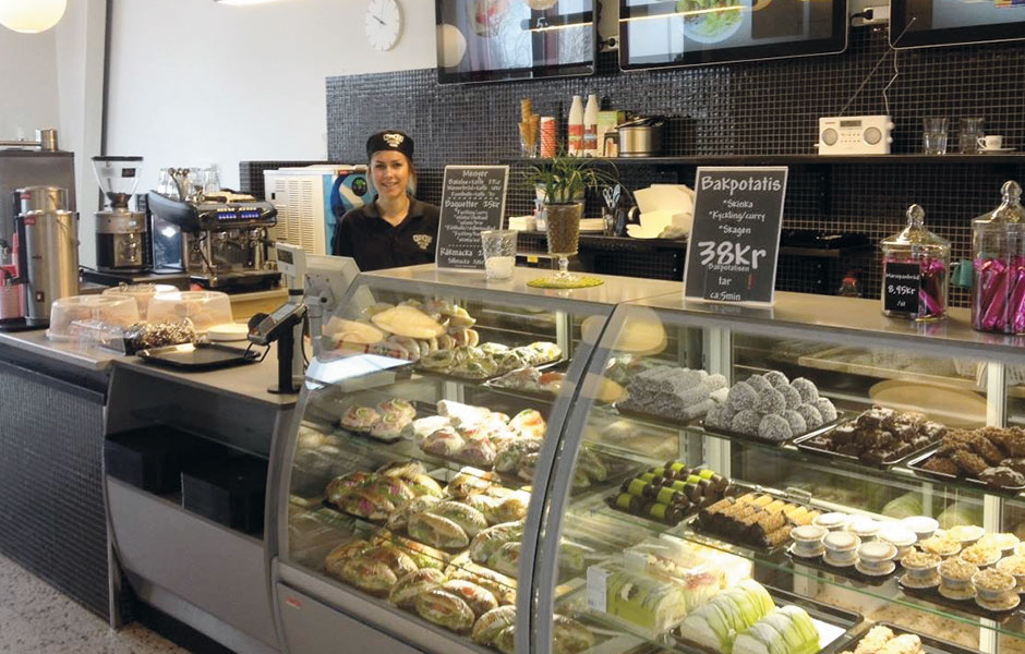 Trevlig personal på Kickis Corner Café